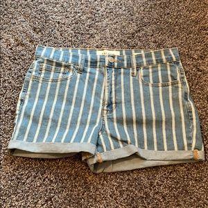 NWOT Pacsun Striped Jean Shorts